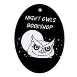 Funny Bookstore Oval Ornament
