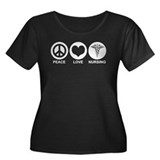 Peace Love Nursing Women's Plus Size Scoop Neck Da