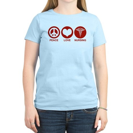 Peace Love Nursing Women's Light T-Shirt