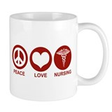 Peace Love Nursing Coffee Mug