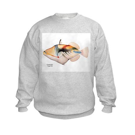 Picasso Trigger Fish (Front) Kids Sweatshirt
