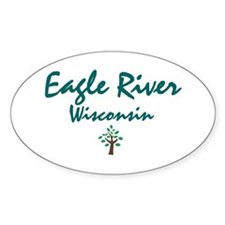 Eagle River Oval Decal