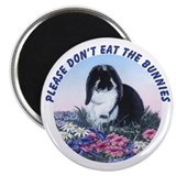 French Lop &amp; Flowers Magnet