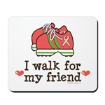 Breast Cancer Walk Friend Mousepad