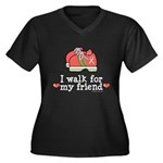 Breast Cancer Walk Friend Women's Plus Size V-Neck