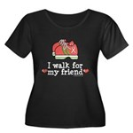 Breast Cancer Walk Friend Women's Plus Size Scoop