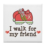 Breast Cancer Walk Friend Tile Coaster