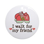 Breast Cancer Walk Friend Ornament (Round)
