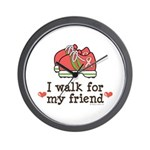 Breast Cancer Walk Friend Wall Clock