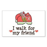 Breast Cancer Walk Friend Rectangle Sticker