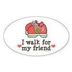 Breast Cancer Walk Friend Oval Sticker (10 pk)