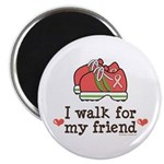 Breast Cancer Walk Friend Magnet