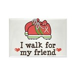 Breast Cancer Walk Friend Rectangle Magnet