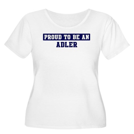 Proud to be Adler Women's Plus Size Scoop Neck T-S