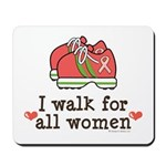 Breast Cancer Walk Women Mousepad