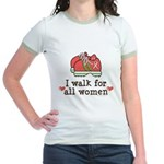 Breast Cancer Walk Women Jr. Ringer T-Shirt