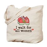Breast Cancer Walk Women Tote Bag
