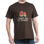 Breast Cancer Walk Women Dark T-Shirt