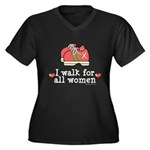 Breast Cancer Walk Women Women's Plus Size V-Neck