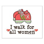 Breast Cancer Walk Women Small Poster