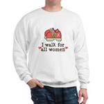 Breast Cancer Walk Women Sweatshirt