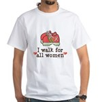 Breast Cancer Walk Women White T-Shirt