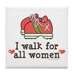 Breast Cancer Walk Women Tile Coaster