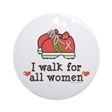 Breast Cancer Walk Women Ornament (Round)