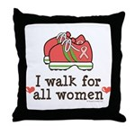 Breast Cancer Walk Women Throw Pillow