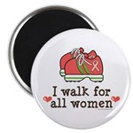 Breast Cancer Walk Women Magnet