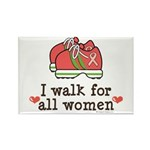 Breast Cancer Walk Women Rectangle Magnet (100 pac