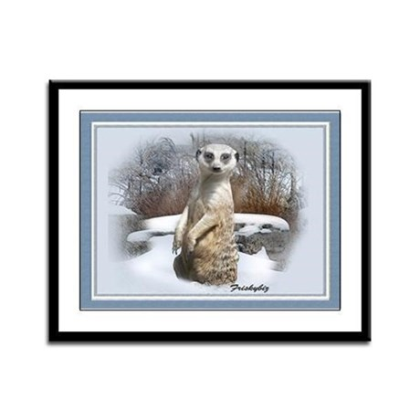 Meerkat Snowy Day Framed Panel Print