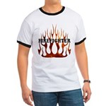 Firefighter Tribal Flames Ringer T