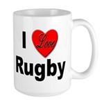 I Love Rugby Large Mug