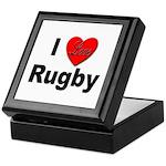 I Love Rugby Keepsake Box