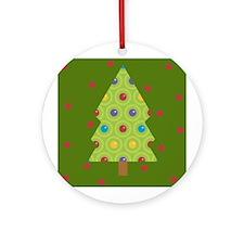 Holiday Tree Christmas Ornament (Round)