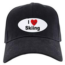 I Love Skiing Baseball Hat