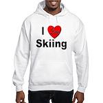 I Love Skiing (Front) Hooded Sweatshirt