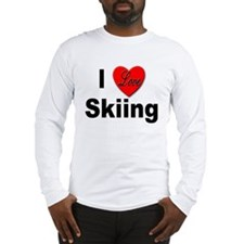 I Love Skiing (Front) Long Sleeve T-Shirt