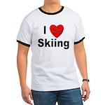 I Love Skiing (Front) Ringer T