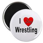 I Love Wrestling Magnet