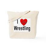 I Love Wrestling Tote Bag