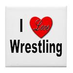 I Love Wrestling Tile Coaster
