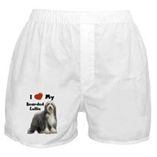 I Love My Bearded Collie Boxer Shorts