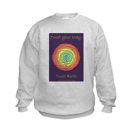 Trust Birth Labyrinth Kids Sweatshirt