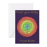 Trust Birth Labyrinth Greeting Cards (Pk of 10)