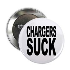 "Chargers Suck 2.25"" Button (10 pack)"