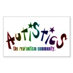 The Real Autism Community Rectangle Sticker