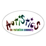 The Real Autism Community Oval Sticker