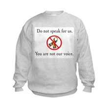 You Are Not Our Voice. Kids Sweatshirt